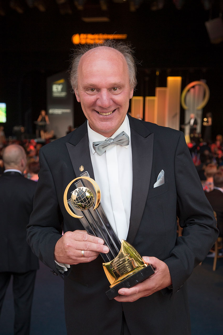Josef Zotter in der EY World Entrepreneur Of The Year® Hall of Fame 2016