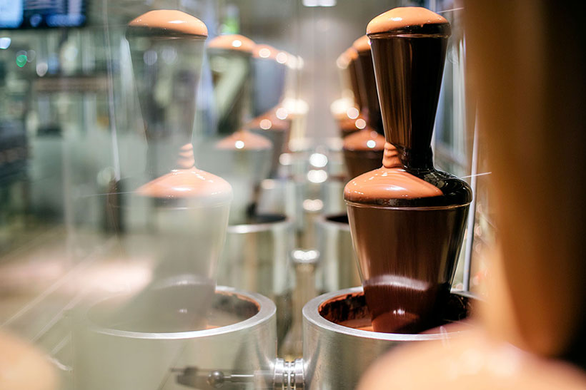 Zotter chocolate fountain
