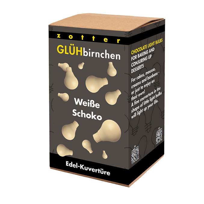 Zotter Glühbirnchen – Weiße Schokolade 1300g