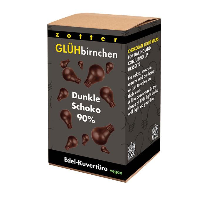 Image of Glühbirnchen - 90% Dunkle Schoko 1300g