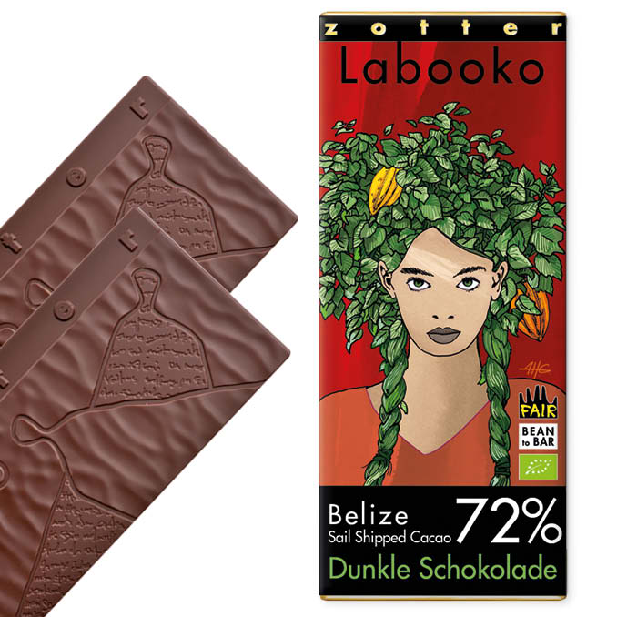 """Zotter 72% Belize """"Sail Shipped Cacao"""""""