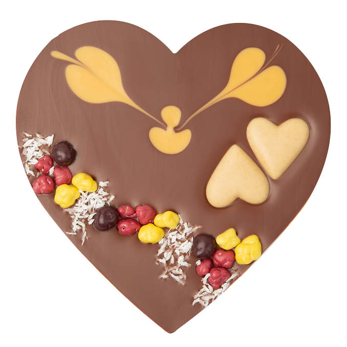Heart with Caramel Praline