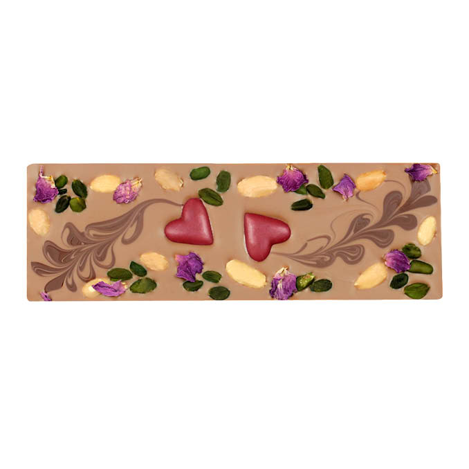 Almond Nougat with Raspberry Hearts