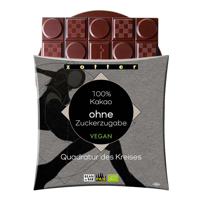 100% Dark Choc, No Added Sugar
