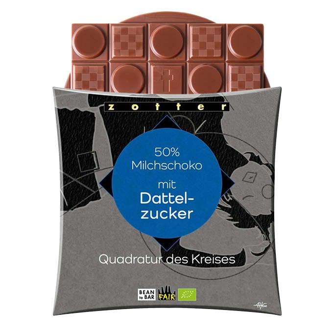 Image of 50% Milchschoko mit Dattelzucker