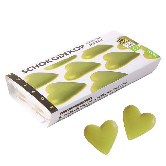 Decor-Green Tea Hearts